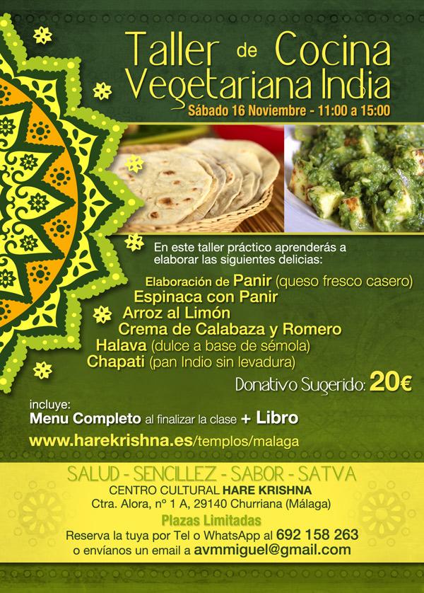 taller cocina vegetariana india