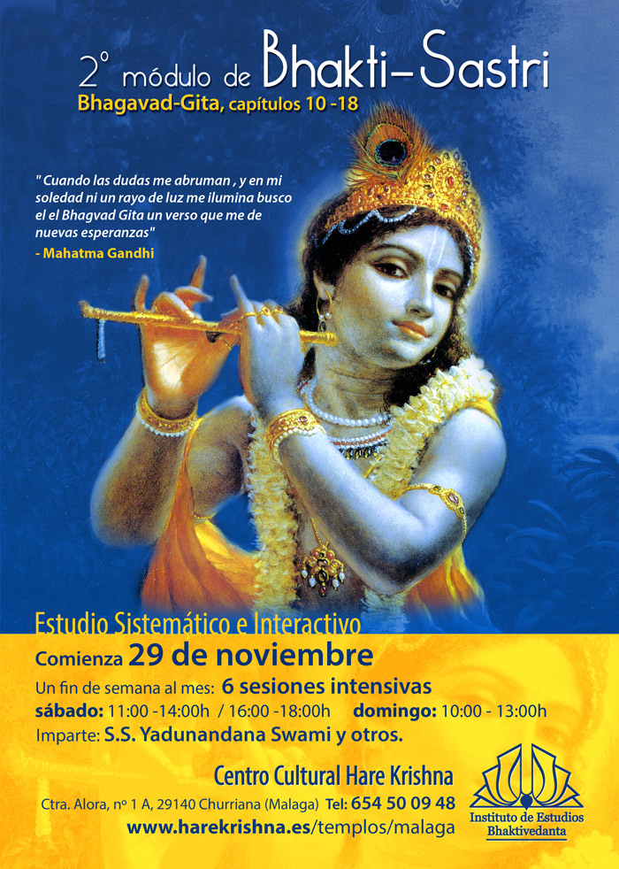 Bhakti-Sastri, estudio del Bhagavad Gita